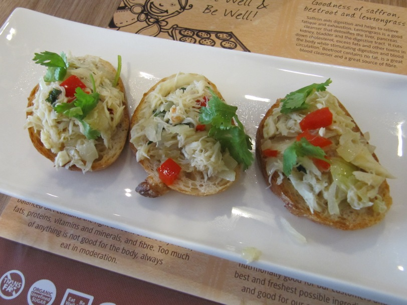 Chilli crab appetisers